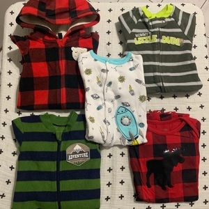 Lot of Pjs/Fleece Playsuit 3-6 months